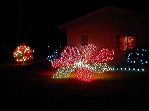 Broomfield CO Home Decorated with Christmas Lights