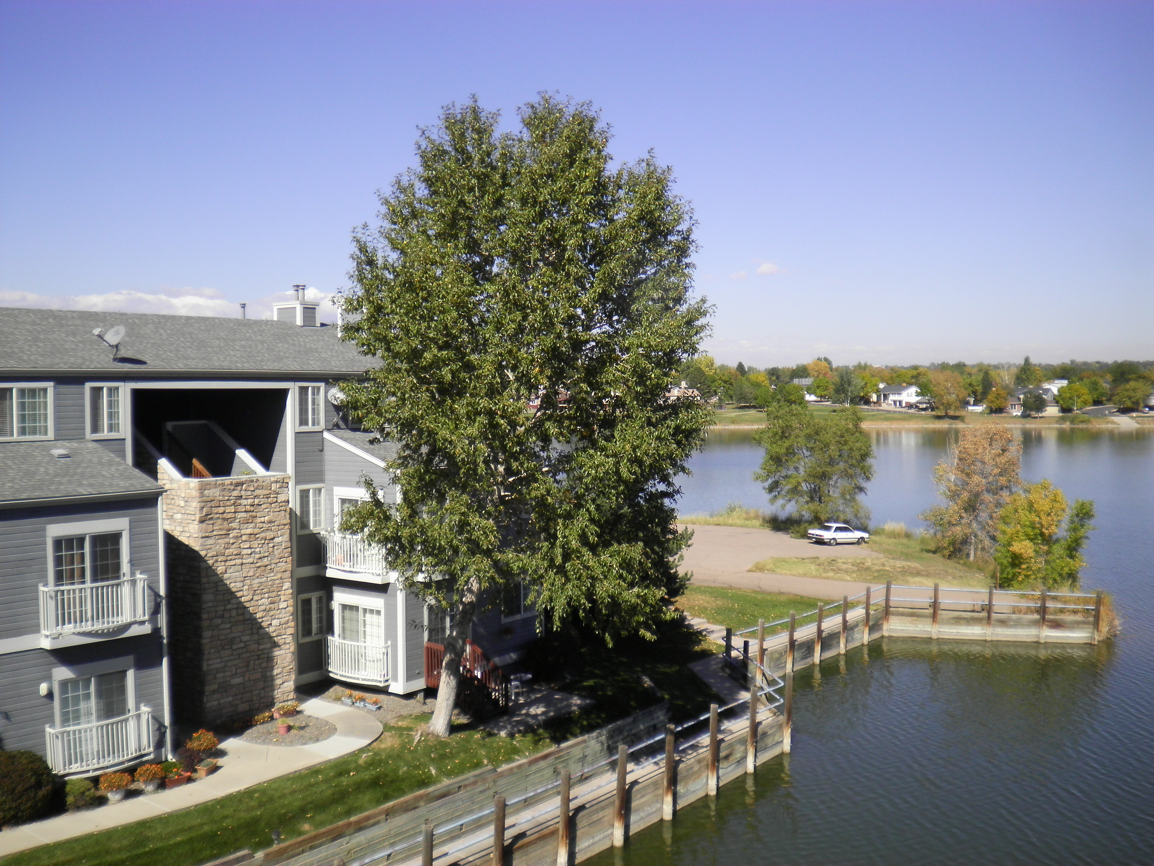 westminster arvada condo yacht club lake view from kitchen