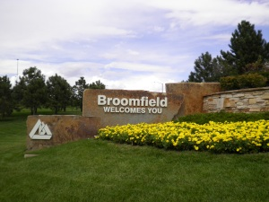 "Sign ""Broomfield Colorado"""